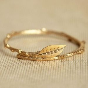 BRANCH leaf gold ring womens